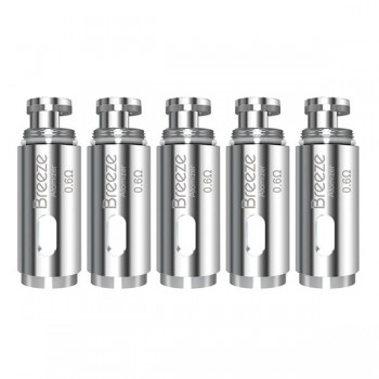 ASPIRE BREEZE REPLACEMENT COIL - U-TECH COIL 0.6 OHM - PACK OF 5 (MSRP $15.00)
