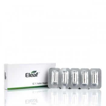 ELEAF IC 1.1 OHM HEAD FOR ICARE - PACK OF 5 (MSRP $8.00)