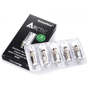 HORIZON ARCTIC COIL SS DUAL CLAPTON 0.2OHM - PACK OF 5 (MSRP $20.00)
