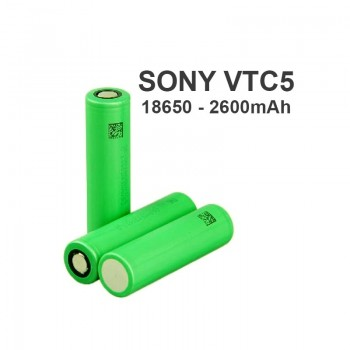 SONY VTC 5 18650 AUTHENTIC BATTERY - 3.7V - 2600MAH - 20A - (MSRP $15.00)